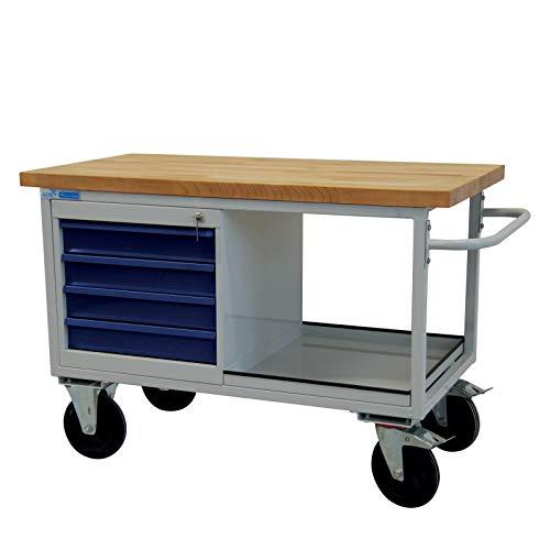 ADB Tischwagen Werkbank Werktisch Rollwagen Werkstatt Arbeitstisch mit Rollen