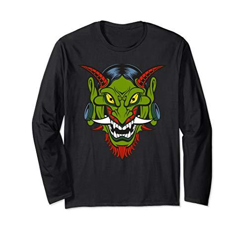 Graphic 365 Hanya Demon Mask Funny Gift - Unisex Langarmshirt
