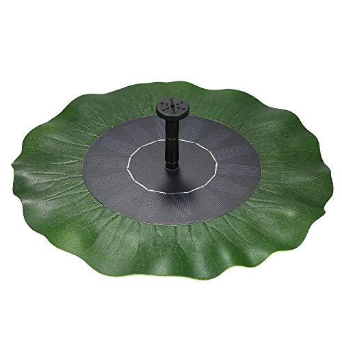 AUFEN 1.4W Solar Springbrunnen, Lotusblatt Teichpumpe Brunnen Solarpumpe Fontäne für Gartenteiche, Fisch-Behälter, Garten Springbrunnen Wasserspiel Dekoration (TYPE B)