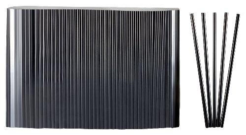 Kigima Strohhalme, Trinkhalme Jumbo schwarz 500 STK 25cm lang Durchmesser 8mm