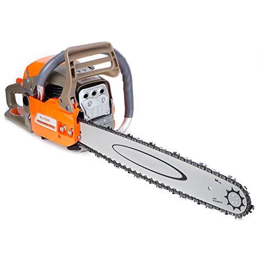 Angetriebene Kettensäge 20 Zoll Handkettensäge Rückschlagschutz Benzin Kettensäge Holzschneidemaschine für Hofgarten und Ranc 2200W