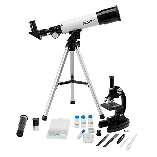 Educational Insights GeoSafari Telescope & Microscope Set, 2-in-1 Set, STEM Learning, Ages 8+