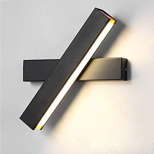 CLX Wandleuchte LED Innen Wandlampe Warmweiß 6W Modern Wandbeleuchtung Eisen Drehbare Eisen Wandlicht Wandleuchten Für Schlafzimmer Badezimmer Wohnzimmer,Schwarz
