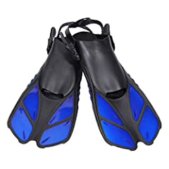 """S/M is for US 4.5 to 8.5, L/XL is for US 9 to 13 Short fins measure 16"""" long and are ideal for swimming, snorkeling and diving. DRAIN HOLES :special drain holes design Rapid drainage to reduce resistance Effectively and improve diver's diving speed d..."""