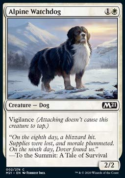 Magic: the Gathering MTG - Alpine Watchdog - Core 2021 M21 2 English