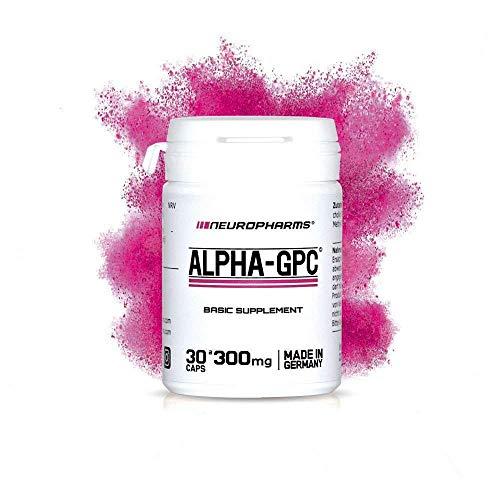 Alpha-GPC | NEU! Nootropikum | 30 Kapseln a 300mg 100% (L-Alpha Glycerylphosphorylcholin) | vegan
