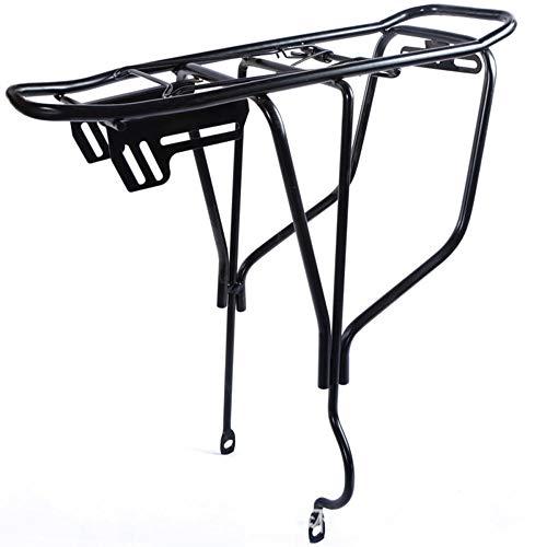 wscmd Portaequipajes de Bicicleta de Cierre Rápido Ajustable Portabicicletas de Aluminio Negro, Negro, Big Hole