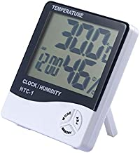 Cikuso Digital LCD Interior Habitacion Exterior Temperatura Electronica Humedad Medidor Termometro Higrometro Estacion meteorologica Despertador