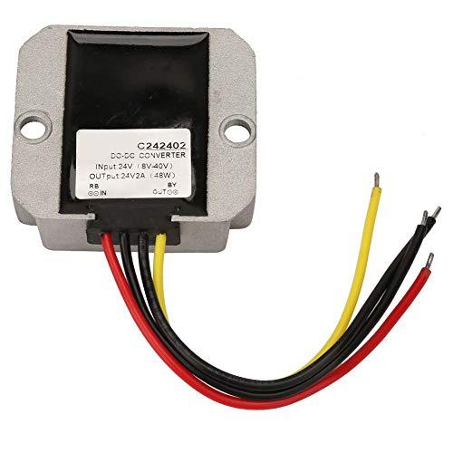Regulador de voltaje de 1 A, 64 x 57 x 22 mm, 8-40 V, 24 V, ± 0,25 V, transformador de voltaje descendente de aluminio
