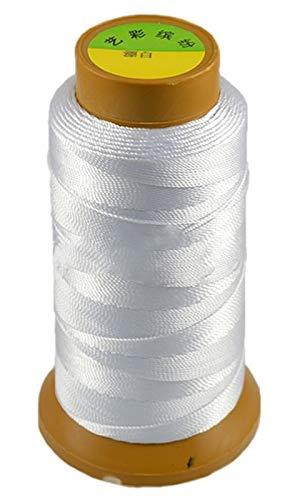 CHENGTAO Cordón De Algodón 0,2/0,25/0,5/0,7/0,8/1 Mm De Rosca Secuencia De La Cuerda Carrete De Alambre Encaja Rebordear Craft DIY Pulsera Collares Joyería (Color : 19, Size : 0.5MM 430Meters)