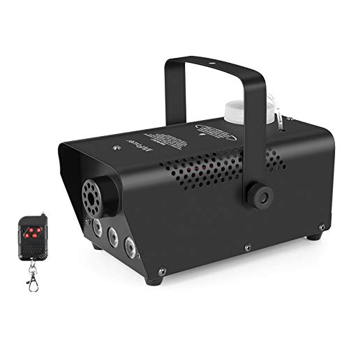 MVPower Fog Machine, 500W Smoke Machine with LED Lights and Wireless Remote Control for Christmas Halloween Parties Weddings Stage, Black