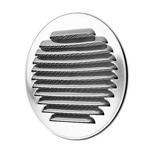 calimaero WSGR 100 mm Rund Wetterschutzgitter Lüftungsgitter Lamellengitter aus Aluminium