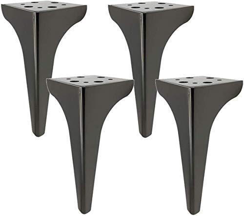 Patas de los muebles Pesado Hierro Metal Mesa de café Sofá patas de la cama del gabinete Pies alfombra de goma Hardware El aumento de las patas de soporte de TV mesa de metal Accesorios Piernas Hardwa
