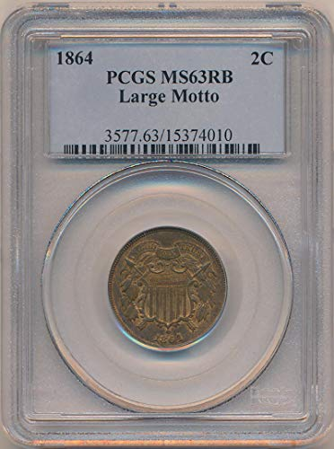 1864 P Two Cent Piece Two Cent MS63 PCGS