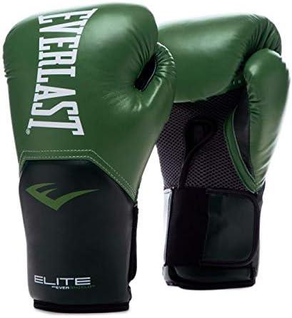 Everlast Elite Pro Style 14oz Training Bombing new work High material Green Gloves