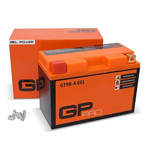 GP-PRO GT9B-4 12V 8Ah GEL-Batterie (Kompatibel mit YT9B-4 / YT9B-BS) (Wartungsfrei & Versiegelt) Akkumulator Motorrad Motorradbatterie