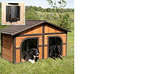 B&G Solid Wood Heated Dog House