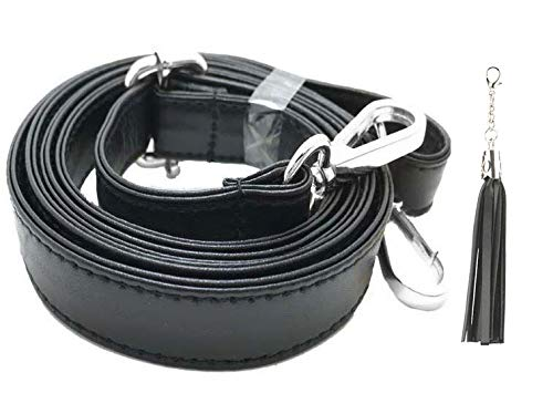 Dark Brown//Gold Microfiber Leather BEAULEGAN Crossbody Bag Strap Full Grain Adjustable 150cm Long 2cm Wide Replacement for Handbag//Purse
