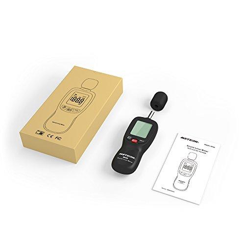 Schallpegelmesser Meterk Schallpegel Messgerät Messung Range 30-130dB - 9