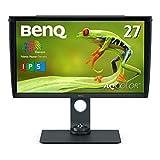 BenQ 27型カラーマネジメントモニターSW270C(WQHD/IPS/AdobeRGB99%/DisplayP397%/HDR/USB-C/60W給電/HWキャリブレーション/ムラ補正/遮光フード)