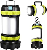 DARMAI Camping Lantern Rechargeable, 1000 Lumen Rechargeable LED Torch, IPX4 Waterproof Ultimate Rechargeable LED Lantern and 4000mAh Power Bank for Emergency, Hiking, Night Fishing, Hunting