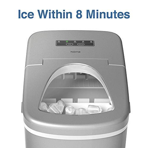 hOmeLabs Portable Ice Maker Machine for Countertop - Makes 26 lbs of...