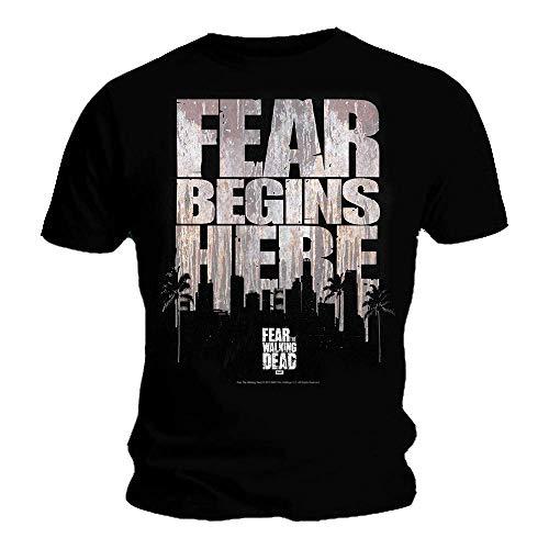 Fear The Walking Dead - City Logo - Oficial Camiseta para Hombre...