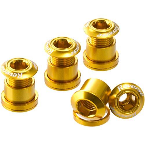 Reverse Kettenblattschrauben 4er Set Aluminium Gold
