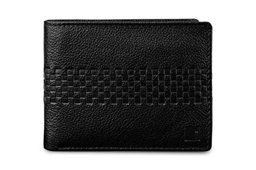 Impulse Billetera de piel auténtica negra para hombres con protección RFID (Wallet 11 negro)