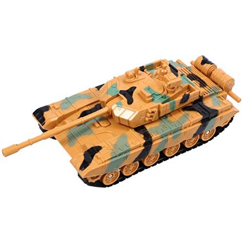 Toyvian 1 Stück Armee Panzer Spielzeug, Kinder Militär Panzer Modell Spielzeug (Gelb)