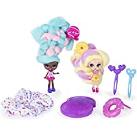 2-Pack Candylocks 3 Inch Jilly Jelly & Donna Nut Dolls with Accessories