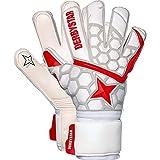Derbystar APS White Red Star II Torwarthandschuhe Guantes de Portero, Unisex Adulto, Blanco, Rojo, Plateado, 10.5