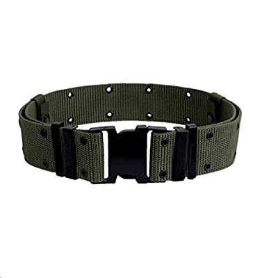 U.S. G.I. Military Surplus Pistol Belt with Black Quick-Release Buckle (Foliage, Medium)