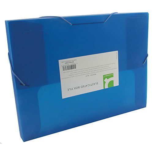 Q Connect Elasticated Box Bestand - Blauw