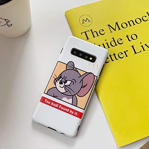 JIAXIA Telefoonhoesje Voor Samsung Note 10 8 9 grappige kat en muis spel zachte hoesjes voor Samsung Galaxy S10 5G S8 S9 plus cartoon koppels hoes, wit, voor Samsung Note 8
