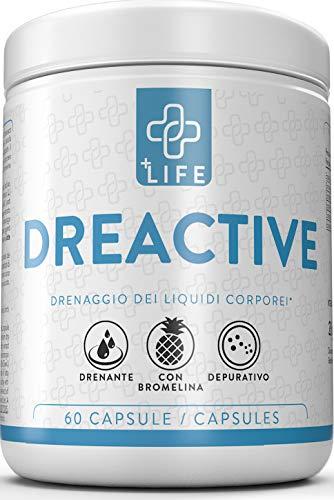 PiuLife Dreactive ● 60 Capsule Anti Cellulite con Garcinia ● Potente Drenante Dimagrante Naturale ● Depurativo, Favorisce Ritenzione Idrica, Diuretico