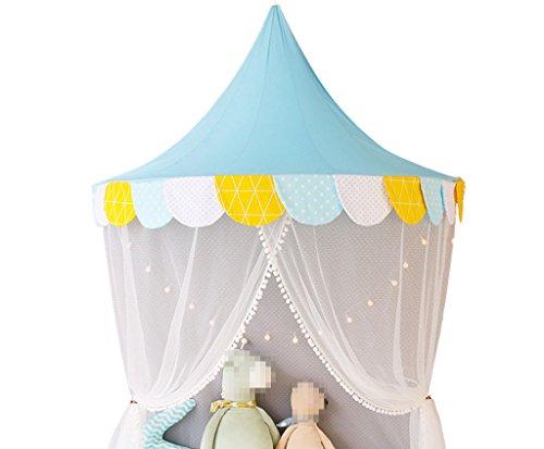 C-J-Xin Tuch-Kunst-Zelt, Innenschlafzimmer-Leseecke Spiel-Haus-Kind-Spiel-Haus-Spielzeug-Raum-Nachttisch-dekoratives Zelt-Halbmond-Zelt 120-150CM Kinderspielzeug Zelt