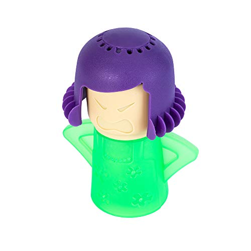 PPINA Microwave Cleaner Steam Angry mama Easily Cleans the Crud In Minutes. Fast Action Steam Kitchen Gadget,Just Add Vinegar and Water (green)