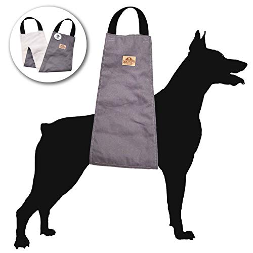 WATFOON Dog Support & Rehabilitation Lift Harnesses Pet Sling for Large Dogs Post-Op Surgery of Weak Hind Legs, Helping Old K9 Cruciate Ligament, Arthritis, Disabled, Get Up,Injured Dogs Walk (Grey)