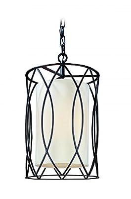 Troy Lighting Sausalito-Light Pendant - Hardback Linen Shade