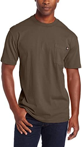 Dickie s Men s Heavyweight Crew Neck Short Sleeve Tee Big tall Black Olive X Large Tall product image