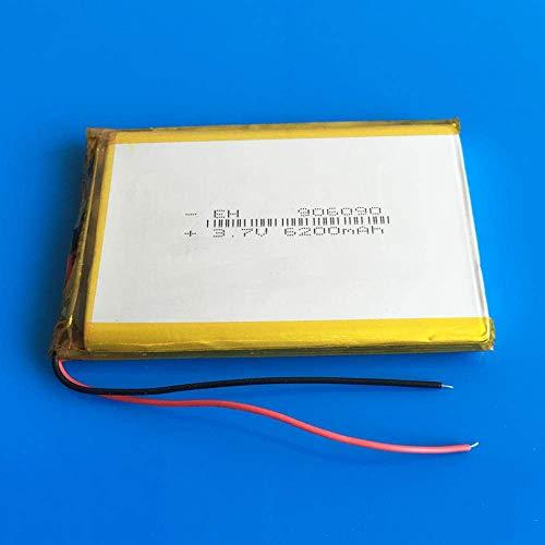 GzxLaY Batería de Respaldo de Alto Rendimiento 906090 3.7V 6200mAh Batería Recargable Lipo Polymer Lithium Li Ion Battery para Power Bank Tablet PC Laptop