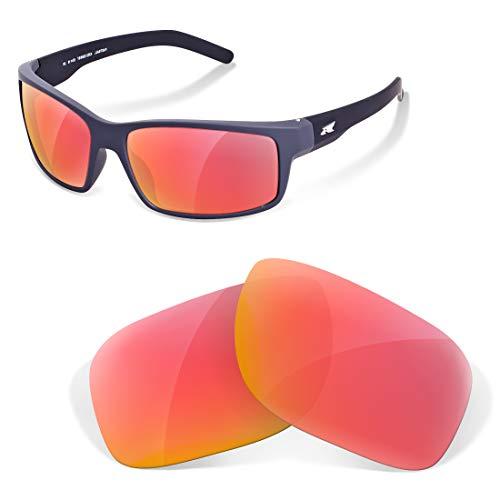 sunglasses restorer Lentes de Recambio Compatibles Polarizadas para Arnette 4255 Shoreditch, Ruby Red