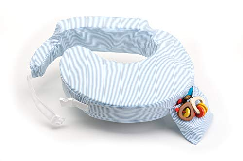 My Brest Friend Breastfeeding Pillow Blue/White Stripe