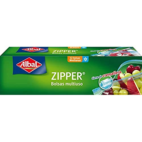Albal - Zipper - Bolsas multiuso - 12 bolsas - [Pack de 6]