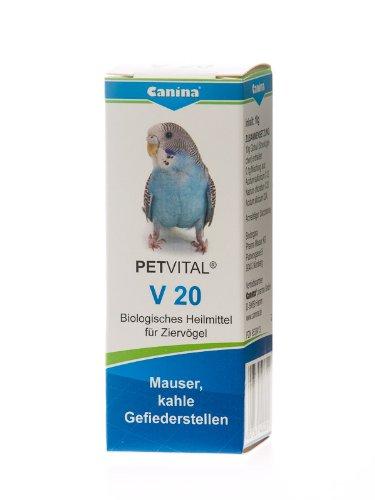 Canina 40020 1 Petvital V 20 10 g Globuli für Vögel