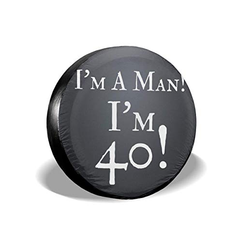 shenguang I 'm A Man I' m 40 Cubierta de llanta de Repuesto Cubiertas de llanta de Repuesto universales para RV, SUV, Remolque, camión