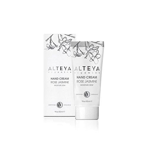 Alteya Crème pour les mains Organique Rosée Hydratante 30ml - NaTrue Certifié Organique Soin pour les Mains avec de l'Eau de Rose et de l'Extract de Jasmine, hydratant et adoucissant