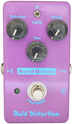Aural Dream Bold Distortion Guitar Effect Pedal includes Heavy Distortion and High-Gain Powerful Dynamic Response for 2 Distortion modes,True Bypass.