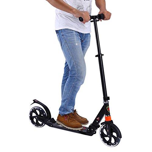 SOULONG Scooter plegable para adultos, con suspensión de aire de la ciudad, ajustable, plegable, ruedas grandes de 200 mm